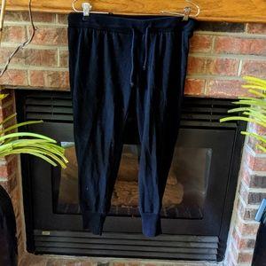 PJ couture black jogger capris sweatpants size med